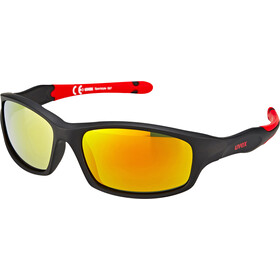 UVEX Sportstyle 507 Glasses Kids, black mat red/red